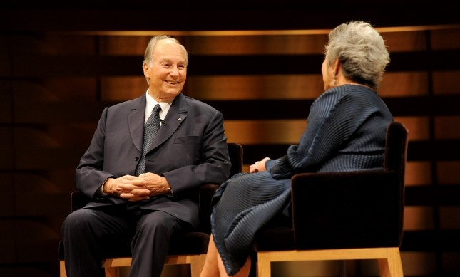 His Highness the Aga Khan in an onstage conversation with Adrienne Clarkson. LISA SAKULENSK