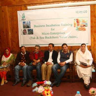 Business Incubation Training for Micro-Entrepreneurs of Yak,  Sea Buckthorn and Tourism value chains held