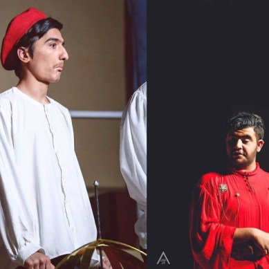 Ammar Taj and Hassan Firdous from GB participate in GCU Dramatic Club's play on the life of Galileo Galilee