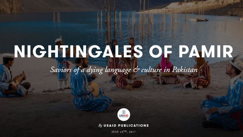 The Nightingales of Pamir: Saviors of a dying language & culture in Pakistan