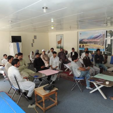 Training workshop on Organic Certification in Laspoor Valley, Chitral