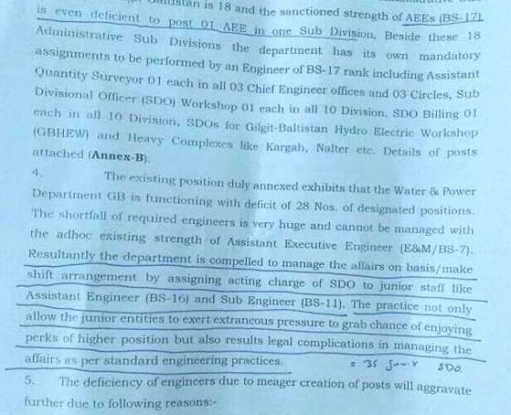 Young engineers allege violation of rules in GB water and power department