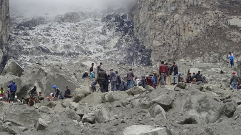 Photographs of Search and Rescue Operation in Ultar, Hunza