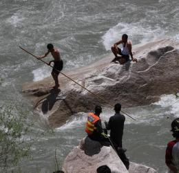 Five members of a family missing after vehicle falls in a river near Gilgit city