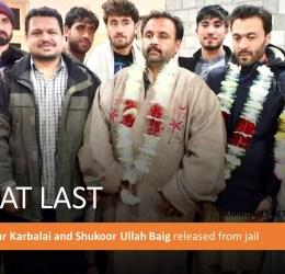 [Free At Last] Baba Jan, Iftikhar Karbalai, Shukoor Ullah Baig released from jail