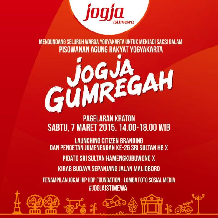 e-poster Jogja Gumregah - #JogjaIstimewa