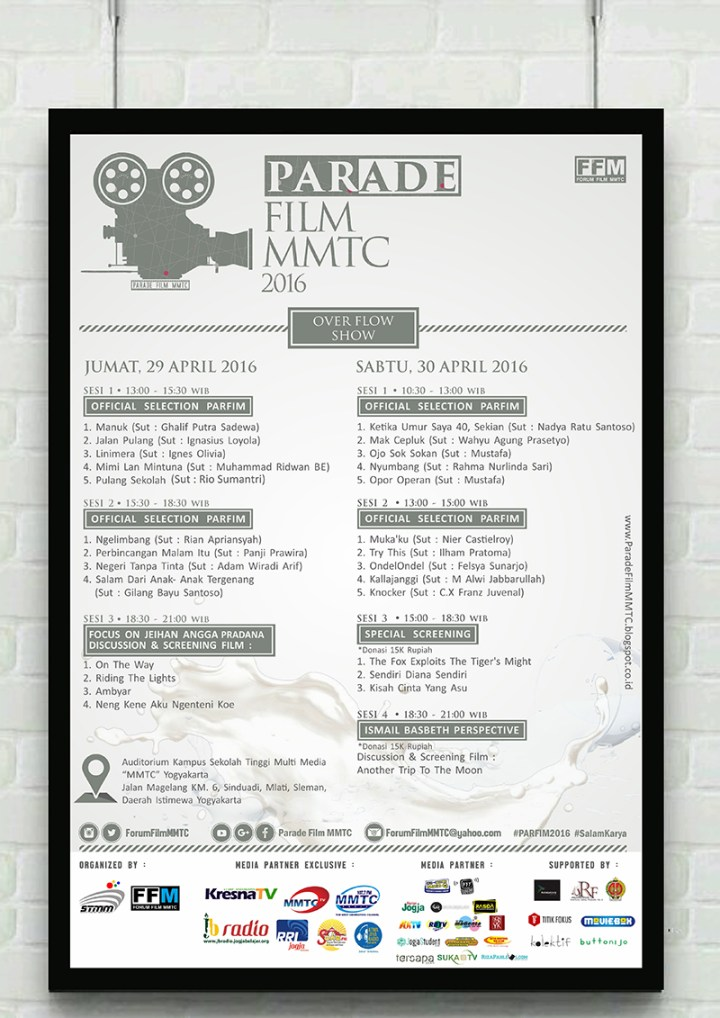 POSTER MAIN EVENT PARADE FILM MMTC 2016
