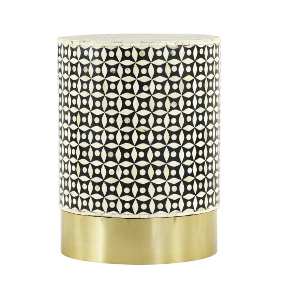 Gold Resin Round End Table