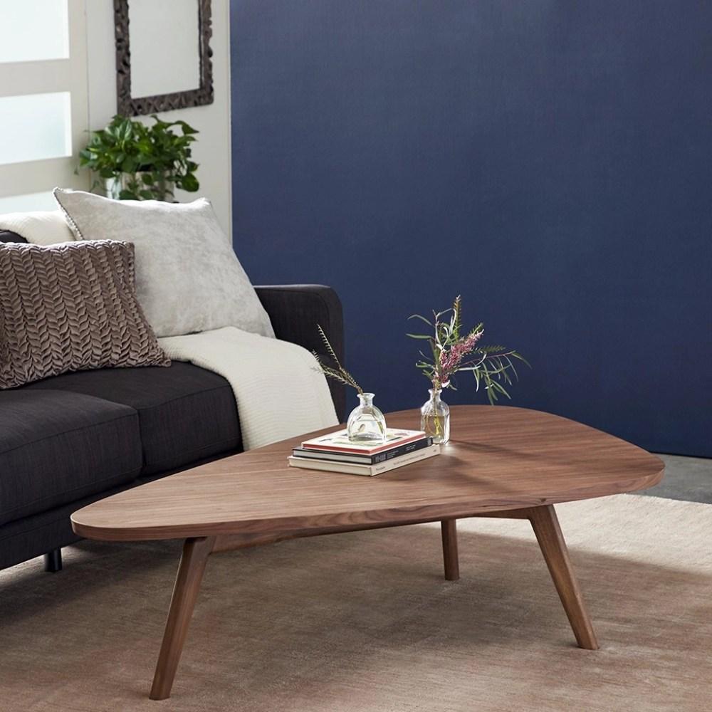 Wood Large Wedge Coffee Table