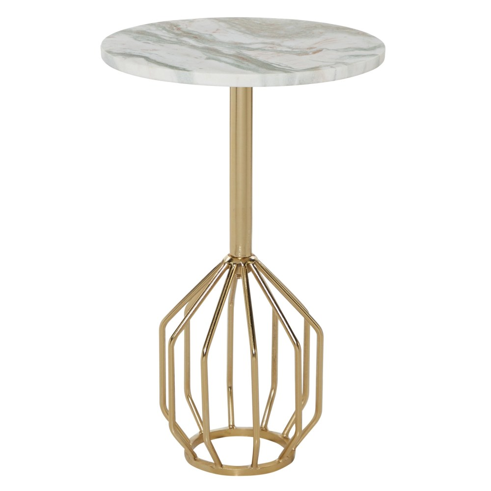 Metal And Marble Table