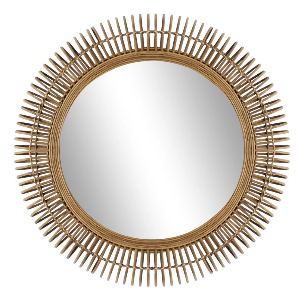 """Rattan Wall Mirror 32"""""""