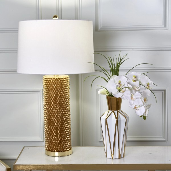 Roma Spiked Table Lamp - Gold