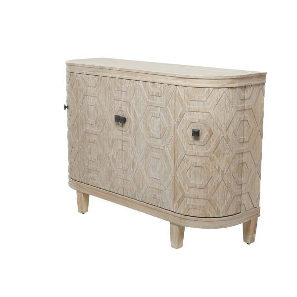 Wood Curved End Cabinet