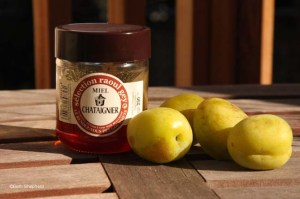 Chestnut honey and plums