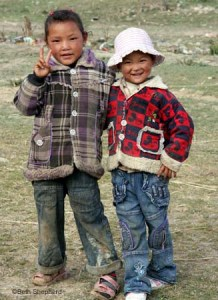 Peace sisters, Tibet, China