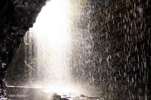 Under the falls at Watkins Glen State Park