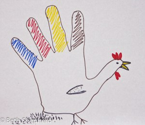 Hand-drawn turkey, Thanksgiving
