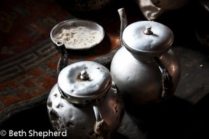 Teapots, Tingri, Mt Everest, Tibet, China