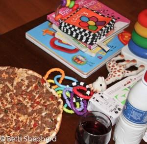 Lahmajoun and toys