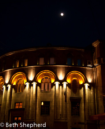 Yerevan Opera House at night, Armenia