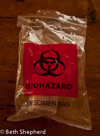 Biohazard specimen bag