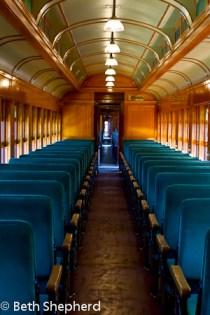 Inside the train at Strasburg Rail Road