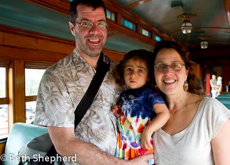 The three of us at Strasburg Rail Road