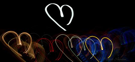 Field of heart lights