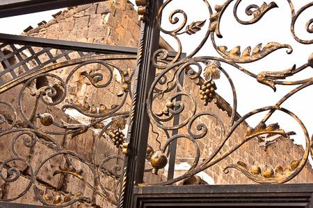Beautiful gate in Gyumri
