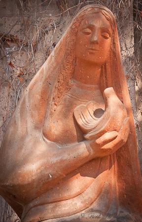 Gyumri sculpture woman and dove