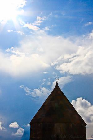 Armenian church and sky