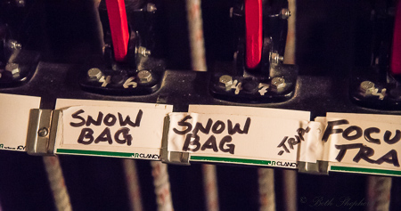 snow bag pulley