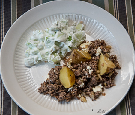 Armenian cucumber lamb potatoes
