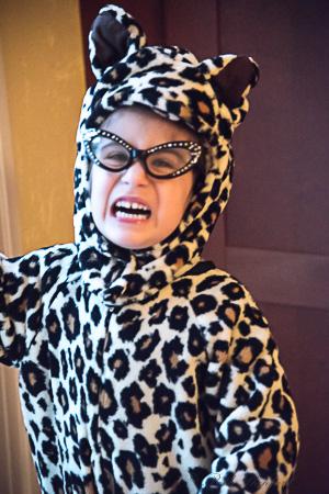 Halloween cheetah costume