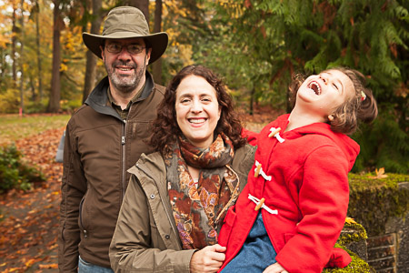 laughing in the Arboretum