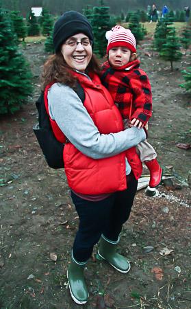 Christmas tree hunting 2012 crying