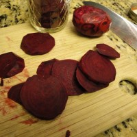 Instant pickled beets