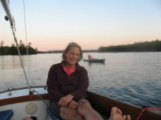 Pam Wells at Squam Lake in New Hampshire