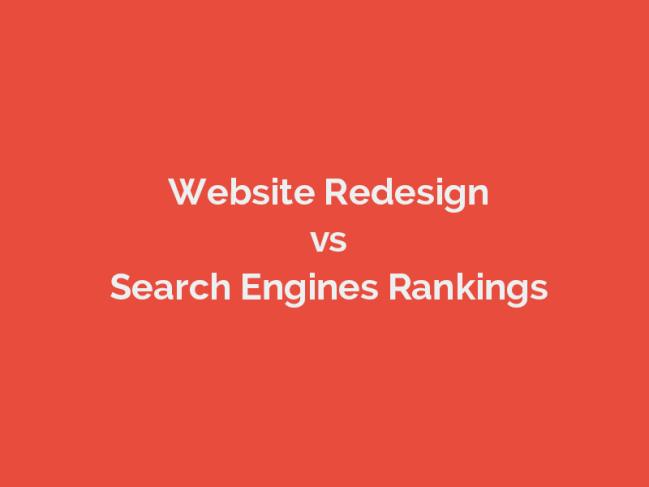 website redesign rankings