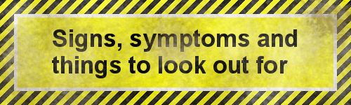 Image result for signs and symptoms