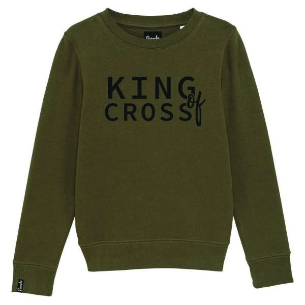 kids sweater kaki king of cross