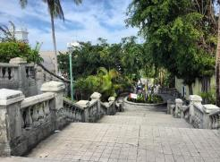 Courtyard stairway leading into downtown Nassau