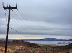 Lake Mead as seen from the Historic Railroad Tunnel Trail hiking path