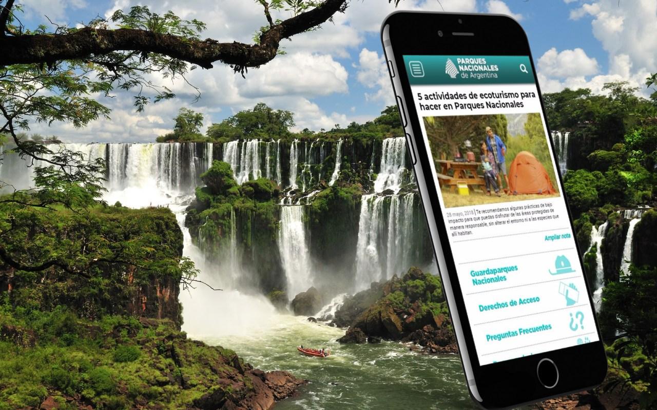 Sitio web de Parques Nacionales de Argentina