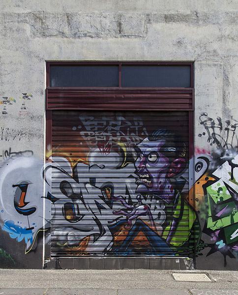 Street art in Fitzroy, Melbourne