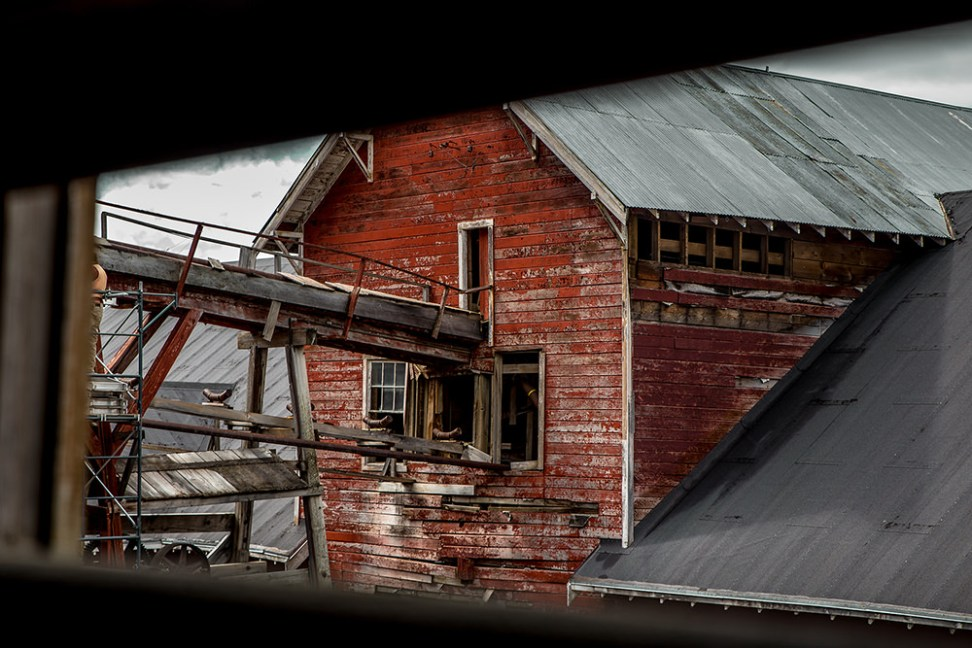 View from inside Kennecott Mill Building, Alaska