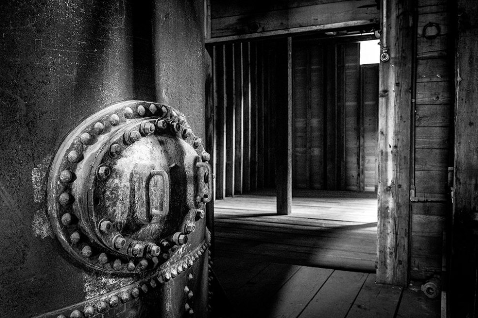 Inside the abandoned Kennecott Copper Corporation Leaching Plant, Alaska