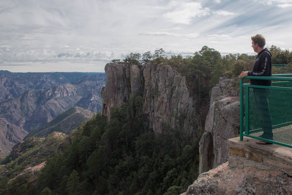 Ben at a viewpoint on the edge of the Copper Canyon, Chihuahua, Mexico.