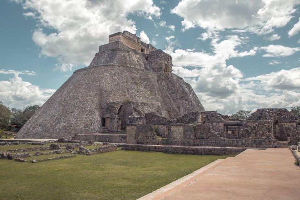 The Pyramid of the Magician, Uxmal, Yucatan.