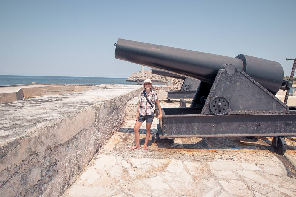 Havana has no shortage of historic forts, with canons.